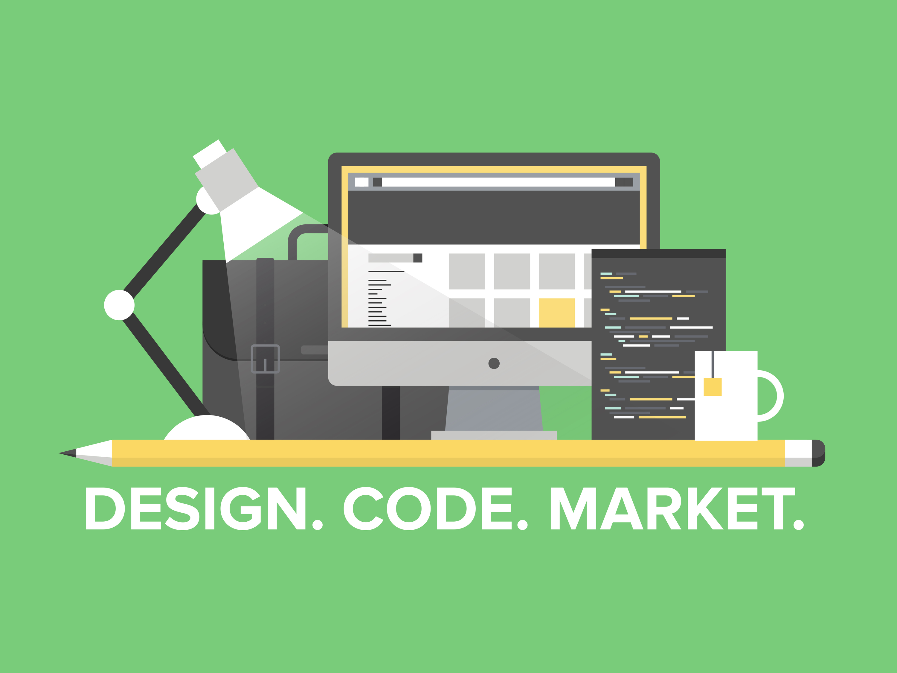 Website Programming Management Flat Illustration